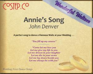 Wedding Dance Waltzes - Annie's Song