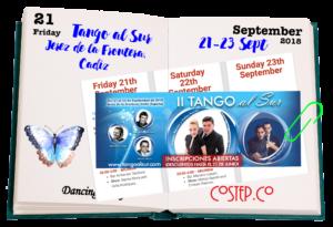 """CoStep.Co dancing diary - """"Tango al Sur"""" festival in Jerez de la Frontera, Cádiz in the Andalusia region in Spain"""