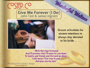 CoStepCo First Dance Wedding Waltzes – Give Me Forever (I Do)