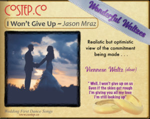 CoStepCo First Dance Wedding Waltzes – I Won't Give Up