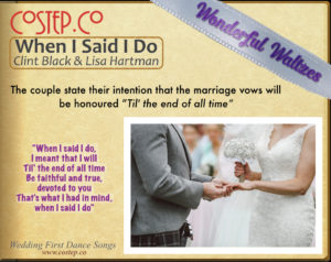 CoStepCo First Dance Wedding Waltzes – When I Said I Do
