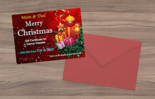 Christmas Gift Certificate2 Dance CoStepCo