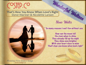 CoStepCo First Dance Wedding Waltzes – That's How You Know When Love's Right