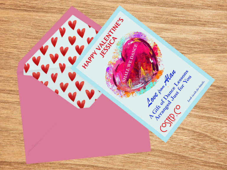 Valentine's Gift Certificate from CoStep.Co