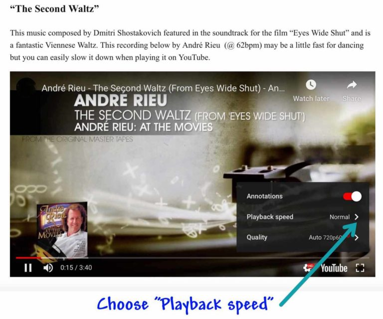 Youtube Speed Change Step 2